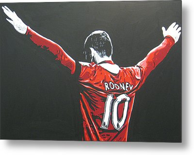 Wayne Rooney - Manchester United Fc 2 Metal Print