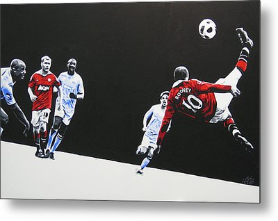 Wayne Rooney - Manchester United Fc Metal Print