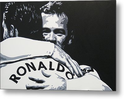 Wayne Rooney And Ronaldo - Manchester United Fc Metal Print