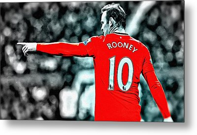 Wayne Rooney Poster Art Metal Print