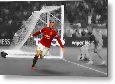 Wayne Rooney Scores Again Metal Print