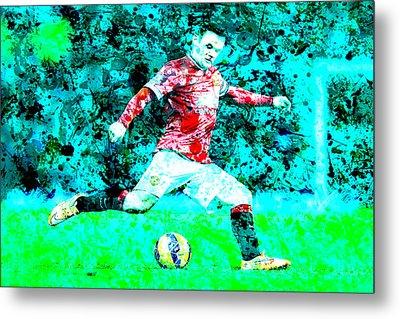 Wayne Rooney Splats Metal Print