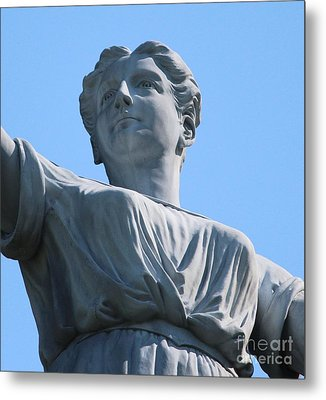 Metal Print featuring the photograph Waynesburg University Statue by Cynthia Snyder
