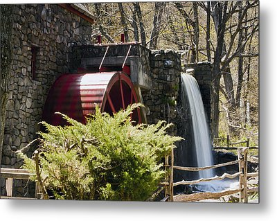 Wayside Grist Mill 3 Metal Print by Dennis Coates
