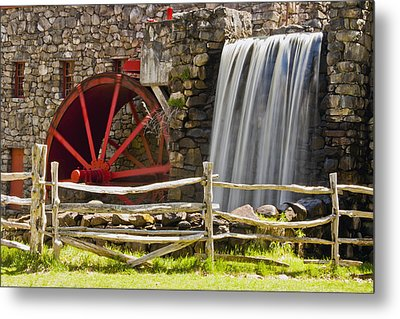Wayside Grist Mill 4 Metal Print by Dennis Coates