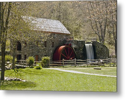 Wayside Grist Mill 6 Metal Print by Dennis Coates