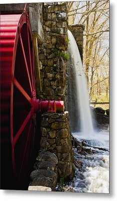 Wayside Grist Mill Metal Print by Dennis Coates