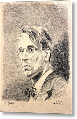 W.b. Yeats Metal Print by John  Nolan