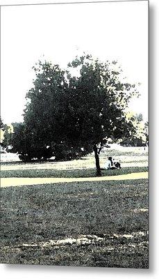 Wc Resting Tree Metal Print by Nicki Bennett