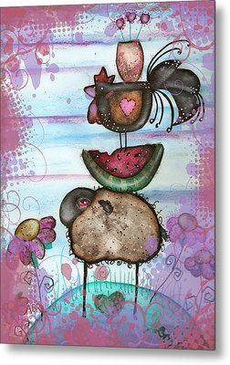 we are all Friends here Metal Print by  Abril Andrade Griffith