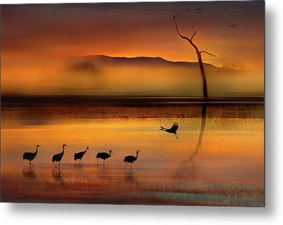 We Are Here Waiting For You Metal Print