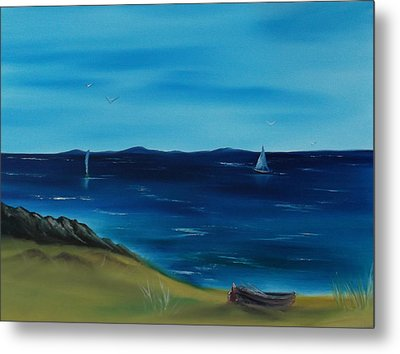 We Are Sailing.. Metal Print by Cynthia Adams