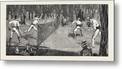 We Find A Jolly Place In The Cemetery Fur Lawn-tennis Metal Print