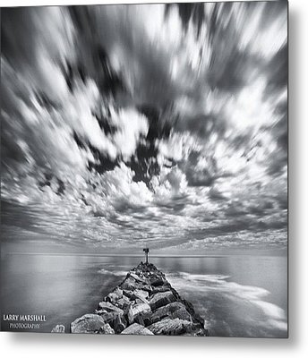 We Have Had Lots Of High Clouds And Metal Print by Larry Marshall