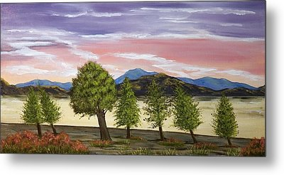 Metal Print featuring the painting We Learn To Bend To The Wind by Susan Culver
