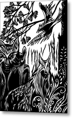 We The Creatures Metal Print by Ingrid  Schmelter