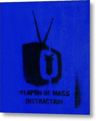 Weapon Of Mass Distraction Metal Print by A Rey
