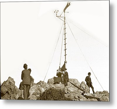 Metal Print featuring the photograph Weather Station Mount Tamalpais Marin County California Circa 1902 by California Views Mr Pat Hathaway Archives