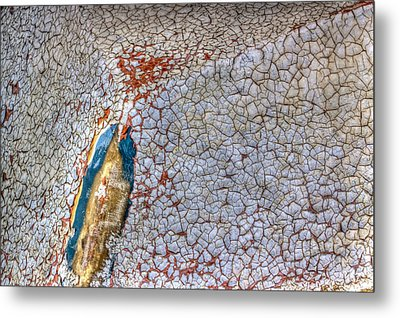 Weathered Boat - Abstract Metal Print by Heidi Smith