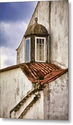 Weathered Building Of Medieval Europe Metal Print by David Letts