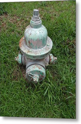 Weathered Fire Hydrant Metal Print