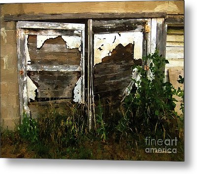 Weathered In Weeds Metal Print by RC DeWinter