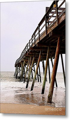Weathered Oceanic Pier  Metal Print