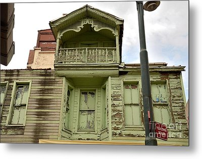 Metal Print featuring the photograph Weathered Old Green Wooden House by Imran Ahmed