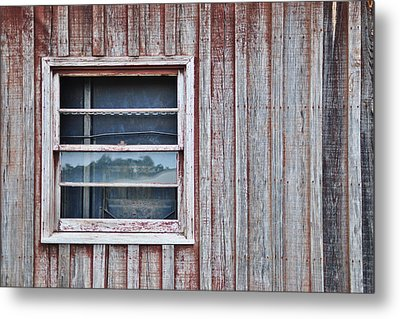 Weathered Window I I Metal Print by Paulette B Wright