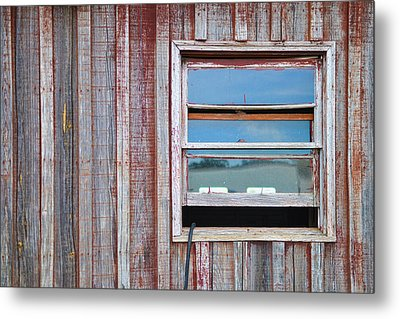 Weathered Window I Metal Print by Paulette B Wright