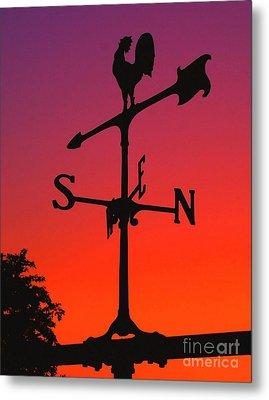 Weathervane At Sunset Metal Print by Nick Zelinsky