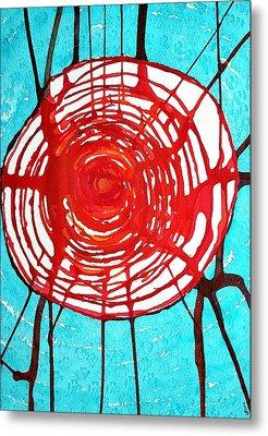 Web Of Life Original Painting Metal Print by Sol Luckman