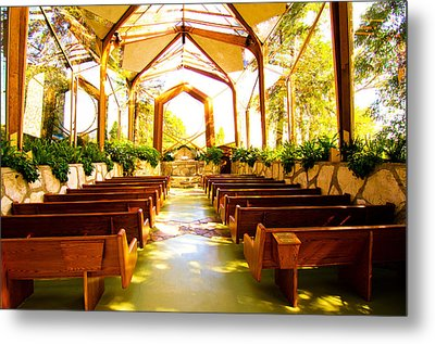 Metal Print featuring the photograph Wedding Chapel by Joseph Hollingsworth