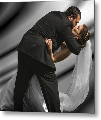 Wedding Kiss Metal Print