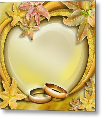 Wedding Memories V3 Metal Print by Bedros Awak