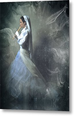 Wedding Night Of A Reluctant Bride - Vintage Style Metal Print by Georgiana Romanovna