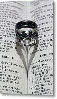 Wedding Ring Heart Metal Print by Shoal Hollingsworth