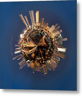 Wee Miami Planet Metal Print by Nikki Marie Smith