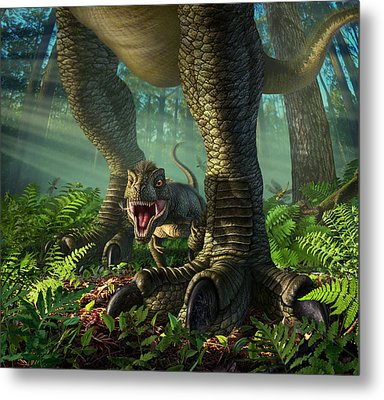 Wee Rex Metal Print by Jerry LoFaro