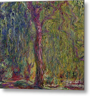 Weeping Willow Metal Print by Claude Monet