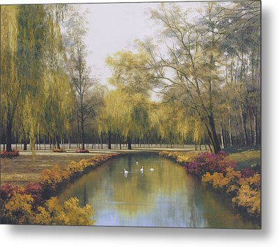 Weeping Willow Metal Print by Diane Romanello