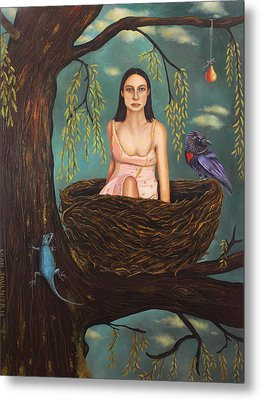 Weeping Willow Metal Print by Leah Saulnier The Painting Maniac