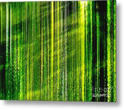 Weeping Willow Tree Ribbons Metal Print