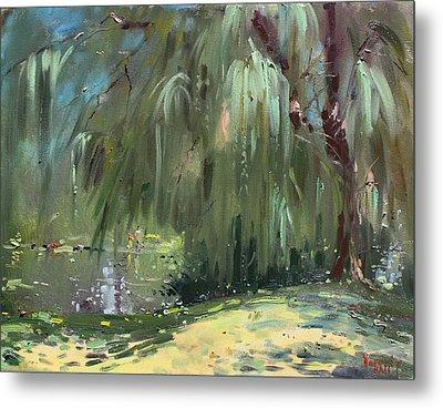 Weeping Willow Tree Metal Print by Ylli Haruni