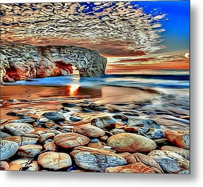Weighed In Stone Metal Print by Catherine Lott