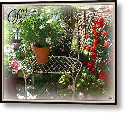 Metal Print featuring the photograph Welcome Flowers by Heidi Manly