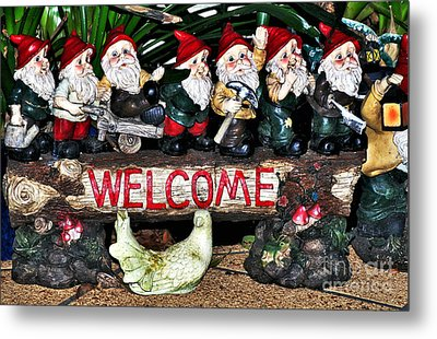 Welcome From The Seven Dwarfs Metal Print by Kaye Menner