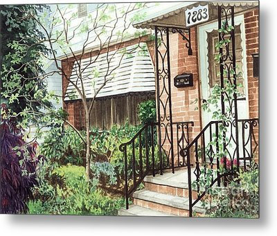Metal Print featuring the painting Welcome Home by Barbara Jewell