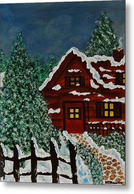 Metal Print featuring the painting Welcome Home by Celeste Manning