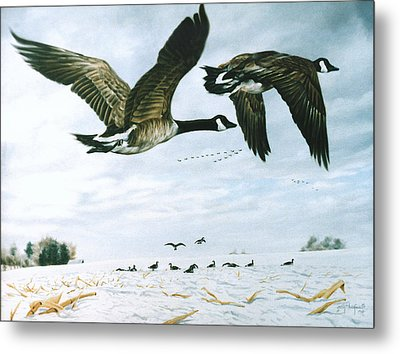 Metal Print featuring the painting Welcome Home by Craig T Burgwardt